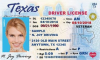 Texas Driving License - Frontside