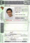 Brazil Driving License - Frontside